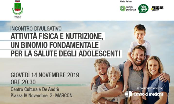 A Marcon un incontro su alimentazione ed attività fisica nei giovani