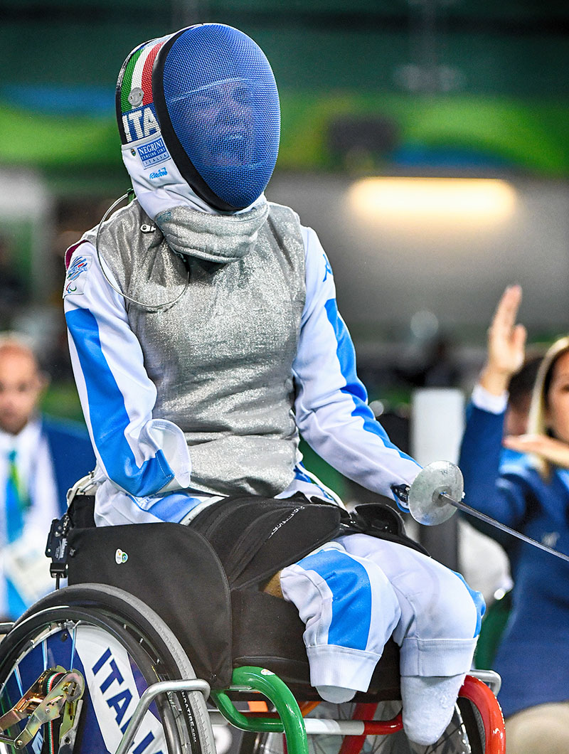 Beatrice Bebe Vio dopo la medaglia d'oro a Rio 2016. Credits Augusto Bizzi
