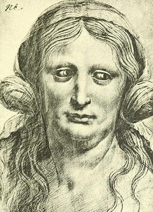 ritratto busto di donna Leonardo Da Vinci