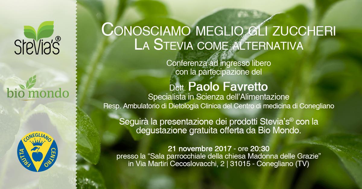 locandina evento Stevia's Bio Mondo a Conegliano